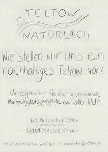 Plakat Teltow Natürlich